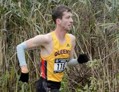 Gads Hill's Mark Schmidt finished 14th at the Ontario University Athletics cross-country championships in Windsor last weekend and was named a Second Team All-Star. Mark Dewan photo