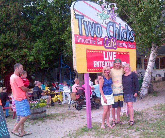 Arlene Murphy (left), Joel and Janet McDonough, former owners of Two Chicks Café in Sauble Beach. Submitted photo