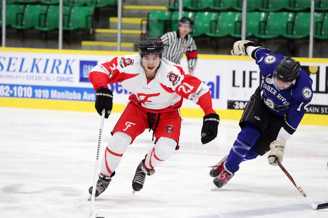The Selkirk Fishermen are sitting in first place with 14 points in the South Division of the KJHL as of Oct. 31. (Brook Jones/Selkirk Journal/Postmedia Network)