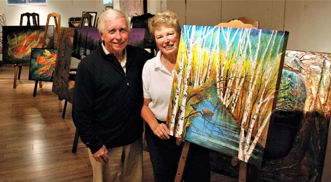 Jack and Bea Lockhart have been busy in their North Bay escarpment area gallery preparing for the biggest show yet of his work, with 140 framed paintings to be displayed at the Davedi Club Nov. 12 from 10 a.m. to 4 p.m. Dave Dale / The Nugget