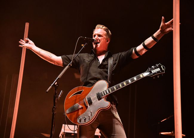 Josh Homme of Queens Of The Stone Age In Concert at Madison Square Garden on October 24, 2017 in New York City. (Photo by Theo Wargo/Getty Images)