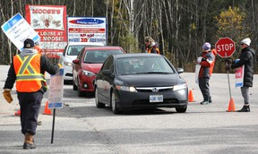 Strike at Canadore (Nugget File Photo)