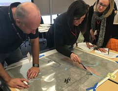 First responders train with the Incident Management Team Academy in Strathcona County last week. Photo Supplied