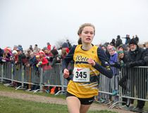 Madawaska Valley District High School's Laura Yantha races to the finish line to achieve fourth place - of 271 runners -  during the senior women's six-kilometre individual race.