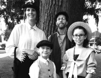 Theatre Kent is presenting the musical Mary Poppins at the Kiwanis Theatre Nov. 16 to 18. Cast members include (clockwise from top right) Christine Baribeau as Mary Poppins, Tim O'Malley as Bert, Klare Rumble as Jane and Corson Fraleigh as Michael. (Handout/Postmedia Network)