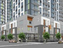 Sketch shows proposed residential complex at 195 Dundas St. (Submitted)