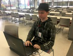 BRUCE BELL/THE INTELLIGENCER Loyalist College student Mikey Steele is worried about his college year.