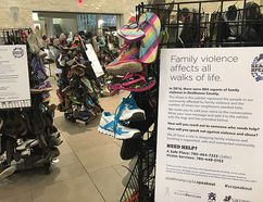 Representing 'all walks of life,' the county is installing displays throughout the municipality for Family Violence Prevention Month. Photo Supplied