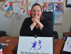 New mentoring co-ordinator Mandi Lamb in her Big Brothers Big Sisters of Owen Sound office at Harmony Centre Friday. (Scott Dunn/The Sun Times)