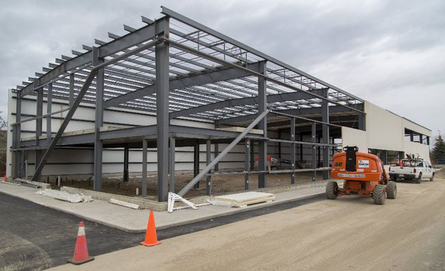 The new facility for the Brantford Gymnastics Academy takes shape at 487 Park Rd. N. (Brian Thompson/The Expositor)