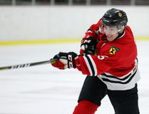 Brockville Braves Jonathan Hill takes a shot during Friday's game against the Cornwall Colts at the Memorial Centre. (Jonathon Brodie/The Recorder and Times)