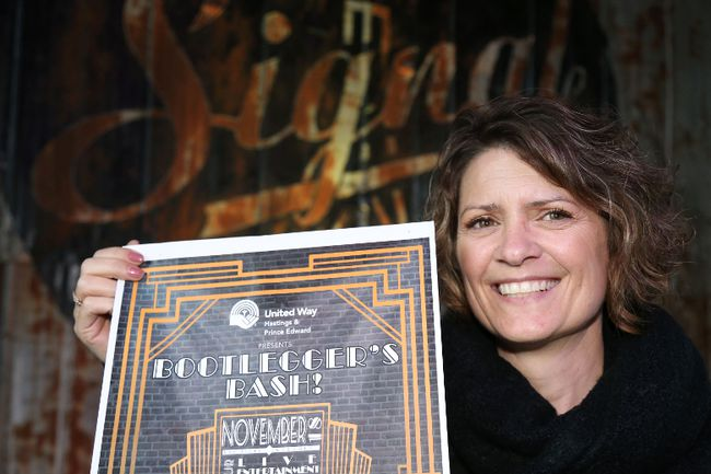 Jason Miller/The Intelligencer Melanie Cressman, United Way fundraising director, is pictured here at Signal Brewery, as preparations get underway for the Bootlegger's Bash scheduled for Nov. 18.