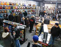 Hundreds of music enthusiasts attended the Long & McQuade music store grand opening in Peterborough in November 2015. Clifford Skarstedt/Postmedia Network