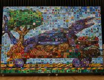 Morden's finished mosaic project, part of the Canada 150 Mosaic project, was unveiled on Nov. 9 at the Access Event Centre. (LAUREN MACGILL, Morden Times)