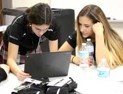 Vanessa Pascuzzi, Abigaile Niro and Maggie Medaglia are part of Young Leaders at St. Mary's College. (Supplied Photo)