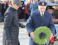 The Royal Canadian Legion Branch 183 saw hundreds of people out to support the Remembrance Day service in sub-zero temperatures on Nov. 11, 2017. Veterans, community members and businesses laid wreaths to honour the fallen and recognize the service of those who serve Canada, or have served. (Troy Patterson/Kincardine News and Lucknow Sentinel)