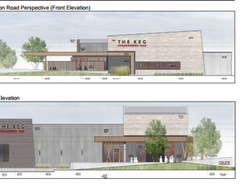 These images of The Keg's proposed new south London location are taken from a city hall document.