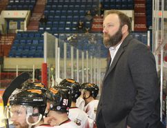 Joel Trottier and the Cornwall Nationals are at home for a pair of Federal Hockey League games this weekend, with the Watertown Wolves at the civic complex on Saturday and Sunday. Todd Hambleton/Cornwall Standard-Freeholder file photo