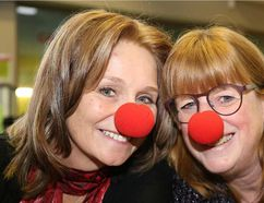 TIM MEEKS/THE INTELLIGENCER Operation Red Nose co-chairwomen Jill Raycroft and Cory MacKay are looking forward to the annual campaign that keeps the Quinte region community safer during the holiday season, and say volunteering is a very rewarding experience.
