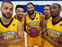 Garrett Williamson, Ryan Anderson, Royce White, Joel Friesen-Latty and Marcus Capers are all returning players for the London Lightning who start their season Saturday in St. Catherines. Photograph taken on Wednesday November 15, 2017. Mike Hensen/The London Free Press/Postmedia Network