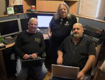From left to right, members of the Perth County Coalition Tom Newton, Doug Trollope and Terry Daum. The local group, which fixes computers and donates them to low-income people, is need of donation to meet the demand in the community. (JONATHAN JUHA/THE BEACON HERALD/POSTMEDIA NETWORK)