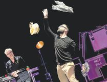YouTube sensation Michael Stevens, right, creator of Vsauce, and Adam Savage juggle wonder, rock concert and magic show in Brain Candy Live! (Matt Christine/Special to Postmedia News)