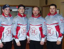 The Tuck rink' Matt Pretty (left), Kurt Armstrong, Chad Allen and Wayne Tuck Jr. claimed first place and a $5,000 purse Nov. 18-19 at the 36th Port Elgin Superspiel, an Ontario Curling Tour event. Frances Learment/Shoreline Beacon