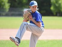 Simcoe's Jeryn Shortt (11) won the Fergie Jenkins Pitcher of the Year for the peewee and under age group at the Baseball Ontario Awards in Hamilton on Saturday. The award is named after Canada's first and only member of the Baseball Hall of Fame. Photo Courtesy RoseLe Studio
