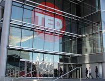 People arrive at Technology Entertainment Design (TED) gathering on March 20, 2014 in Vancouver. (GLENN CHAPMAN/AFP/Getty Images)