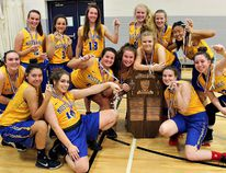 Brantford Collegiate Institute captured the Central Western Ontario Secondary Schools Association AAA senior girls basketball championship on the weekend in Kitchener. (Submitted Photo)