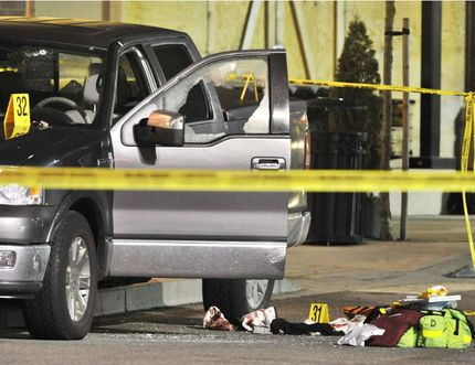 Kevin LeClair was fatally shot in his dark coloured truck outside the IGA at Thunderbird Centre on Feb. 6, 2009 in Langley. (Postmedia Network files)