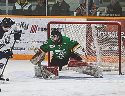 Portage Terrier goalie Lasse Peterson was named the MJHL Recycle Everywhere Player of the Week. (Heather Jordan Photography)