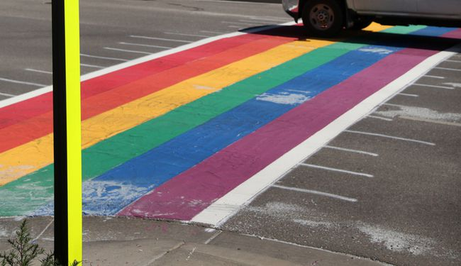 A rainbow crosswalk will be located at King Street and Second Street in Chatham. (File photo)