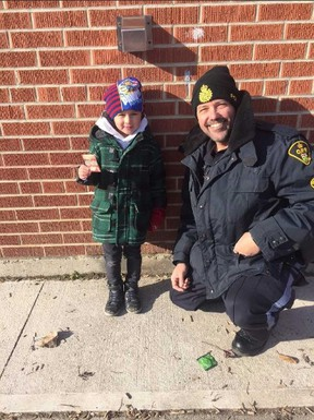 Kindergarten student Malakai Procyshyn was one of the students to recover a $50 bill in the search for a resident's lost cash.
