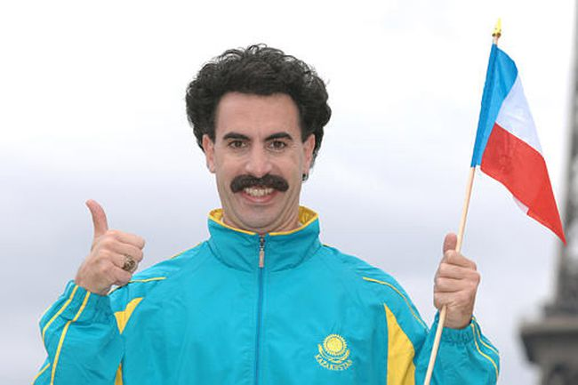 British comedian Sacha Baron Cohen as Borat.