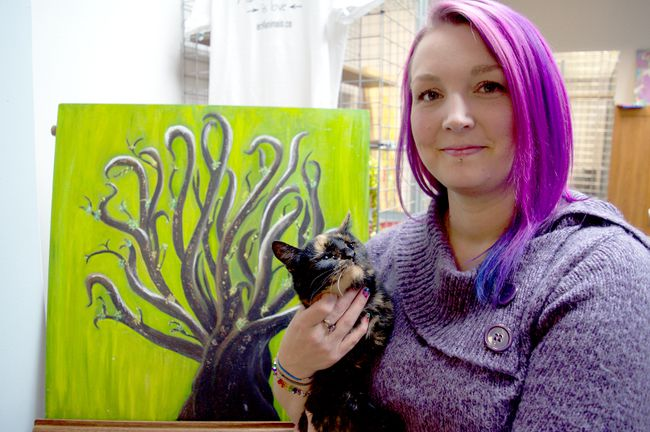 Tanisha Shea Hasson has opened a new pet adoption centre called Art4Animals. The volunteer-run service provides shelter for homeless pets while raising money for pet-related advocacy by selling local art. (CHRIS MONTANINI, Londoner)