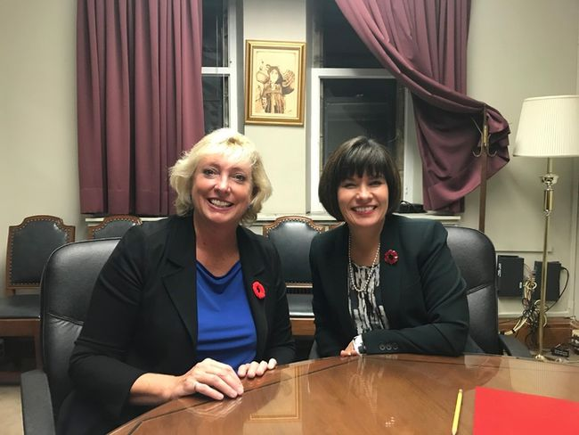 Sarnia-Lambton MP Marilyn Gladu (Shadow Minister of Health, Official Opposition) met with Health Minister Ginette Petitpas Taylor. The two discussed the Community Health Study among numerous other health-related topics. Handout/Sarnia This Week