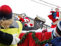 Intelligencer file photo Santa is scheduled to appear in Frankford Saturday as the annual Santa Claus parade will take place beginning at 2 p.m.