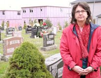 Rosemarie Aelterman of Simcoe and her family had a bad experience at a funeral at Oakwood Cemetery Nov. 4 due to excessive construction noise from the Zitia subdivision nearby. Norfolk County hopes a $73,000 buffer will address these concerns. MONTE SONNENBERG / SIMCOE REFORMER