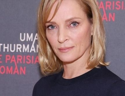 Uma Thurman attends the meet and greet with the cast of The Parisian Woman held at New 42nd Street Studios in New York City on Oct. 18, 2017. (Joseph Marzullo/WENN.com)