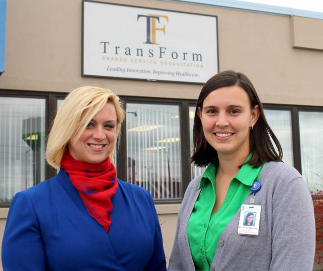 Michelle Watters, left, and Melissa Harrigan are part of the innovation team at Transform Shared Service Organization that works in partnership with healthcare professionals to foster innovation in the health system. Photo taken in Chatham, Ont. on Wednesday November 22, 2017. Ellwood Shreve/Chatham Daily News/Postmedia Network
