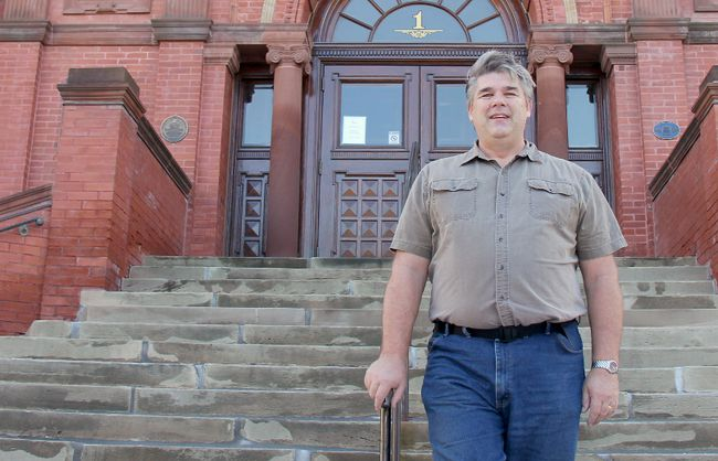 Michael Humble, Stratford's new director of corporate services, stands on Friday, Nov. 24, outside of the city hall building. He'll start his new role with the city Monday. (JONATHAN JUHA/Beacon Herald)