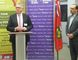 Labour Minister Ken Flynn (left) and Sudbury Liberal MPP and Energy Minister Glenn Thibeault at a press conference at the Sudbury YMCA Employment Services and Immigrant Services office in the Rainbow Centre.