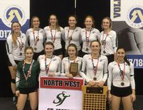 PHOTO COURTESY OF ST. JOE'S CATHOLIC HIGH SCHOOL The St. Joe's Ceinahs captured their second consecutive 3A provincial title on Saturday.