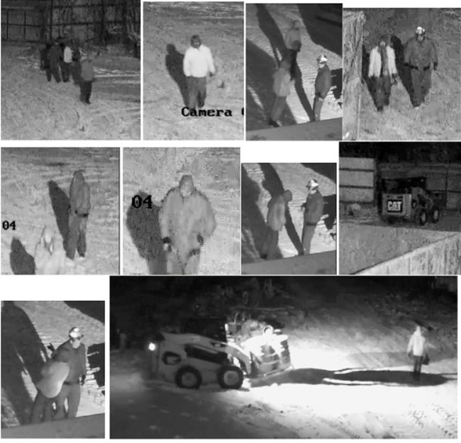 The suspects from last week's scrap metal theft at Gerrard Metals are pictured above. (Supplied photo/The Graphic)