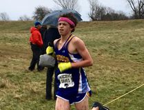 Andrew Davies of Sarnia competes in the youth boys' division at the Canadian cross-country championships in Kingston, Ont., on Saturday, Nov. 25, 2017. (Contributed Photo)