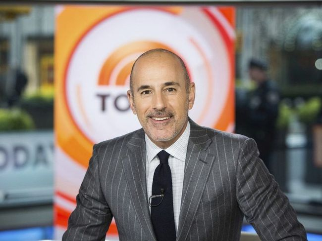 "This Nov. 8, 2017 photo released by NBC shows Matt Lauer on the set of the ""Today"" show in New York. NBC News fired the longtime host for ""inappropriate sexual behavior."" Lauer's co-host Savannah Guthrie made the announcement at the top of Wednesday's ""Today"" show. (Nathan Congleton/NBC via AP)"