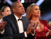 Hip Hop Artist Jay-Z and singer Beyonce during The 59th GRAMMY Awards at STAPLES Center on February 12, 2017 in Los Angeles, California. (Photo by Christopher Polk/Getty Images for NARAS)