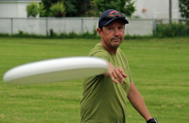 Steven Shlisko is one of the organizers who got Ultimate Frisbee going in the summer, and now the game is headed indoors, for eight weeks, Tuesday nights at the Benson Centre.