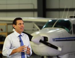 Ontario Progressive Conservative leader Patrick Brown speaks at a press conference near the Greater Sudbury Airport on Saturday, December 2, 2017. Ben Leeson/The Sudbury Star/Postmedia Network